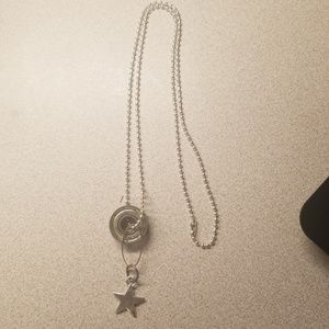 Jewelry - Skate bearing necklace with star.